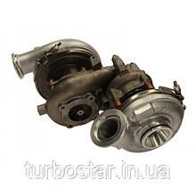 Восстановленная турбина MAN Truck Bi-Turbo, би турбо  4.6D BorgWarner R2S 11509880012 + 12649880072