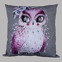Подушка Сова фиолетовая 40см