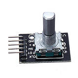 Модуль энкодер с кнопкой KY-040 для Arduino, фото 4