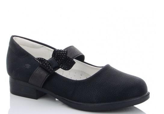Туфлі дитячі чорні,черевики підліткові шкільні на дівчинку Yalike-55-1