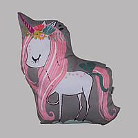 Подушка Единорог розовый 45см