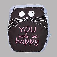 Подушка Cat You make me Happy 37см