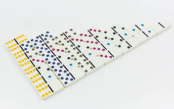 Домино настольная игра в металлической коробке IG-5010FA (кости-пластик,h-4,3см, р-р 19x11,5x3,5см), фото 2