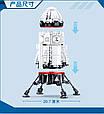 Конструктор SLUBAN M38-B0738 Ракета, космическая ракета-база, 733 деталей, фото 3