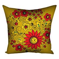 Подушка вышиванка Художественные цветы