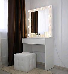 Гримерный столик визажиста для макияжа, зеркало с подсветкой Силайс - Нимфея Альфа