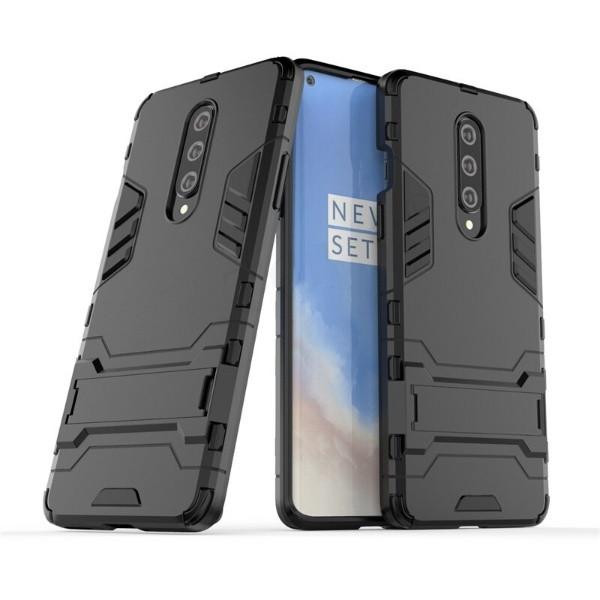 Чехол Hybrid case для OnePlus 8 бампер с подставкой черный