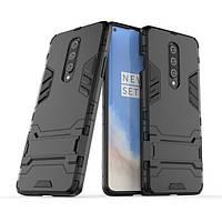 Чехол Hybrid case для OnePlus 8 бампер с подставкой черный, фото 1