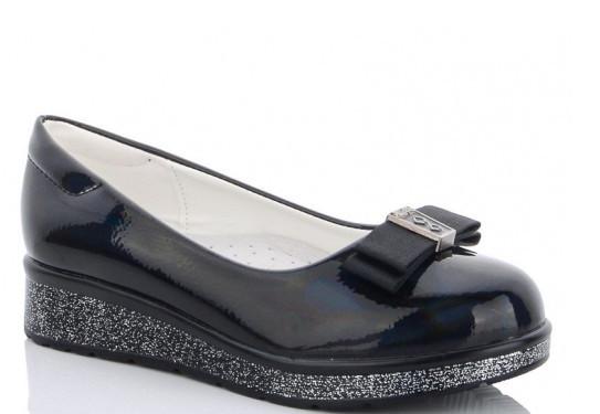 Туфлі дитячі чорний,туфлі підліткові шкільні на дівчинку Yalike-55-55