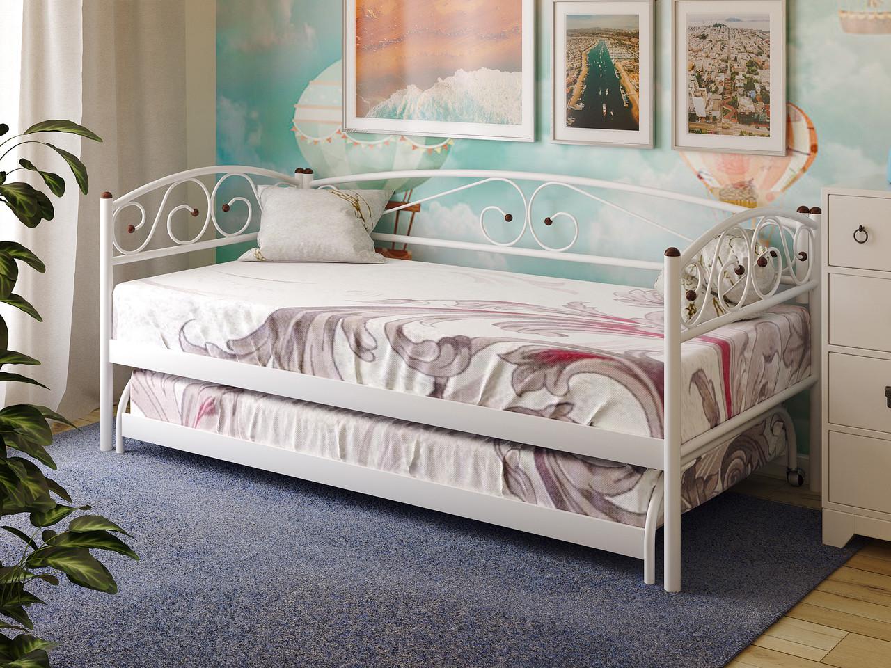 Кровать металлическая подкатная RACIO ТМ МЕТАКАМ
