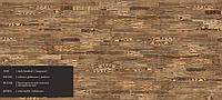 Паркетная доска Grаbo  VIKING Ясень Темный брашированный (ASH DARK BRUSHED), 3-х полостный, лак