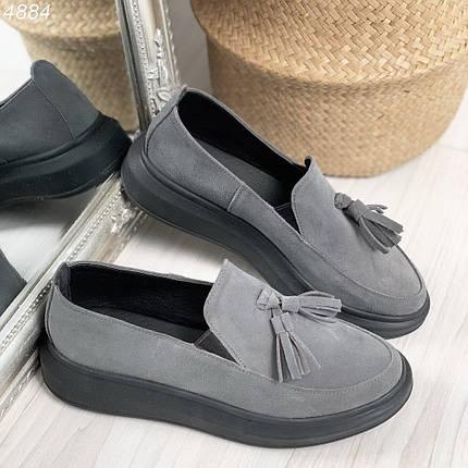 Серые женские туфли, фото 2