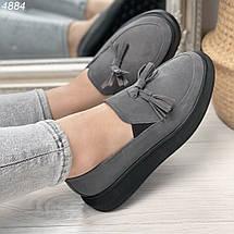 Серые женские туфли, фото 3