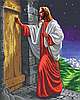 Ісус Христос на порозі (ніч) Схема вишивки бісером