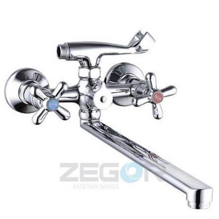 Смеситель ZEGOR ванна длинный DST7-A827 (лат), фото 2