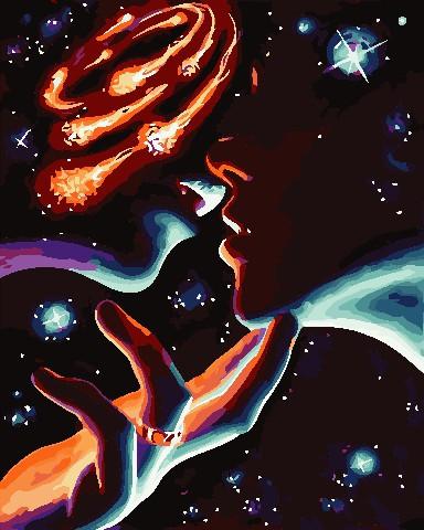 Картина за номерами Космічні почуття 40х50 см Art Story (AS0748)