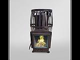 Печь для бани Канада Бочка 20 м³ с выносом со стеклом 305*305, фото 2