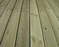 Террасная доска 35x100 импрегнированная из сосны (зеленная) сорт АВ.