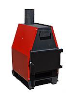 Конвекційна піч тривалого горіння ProTech ZUBR ПДГ 15 кВт для швидкого нагрівання приміщень