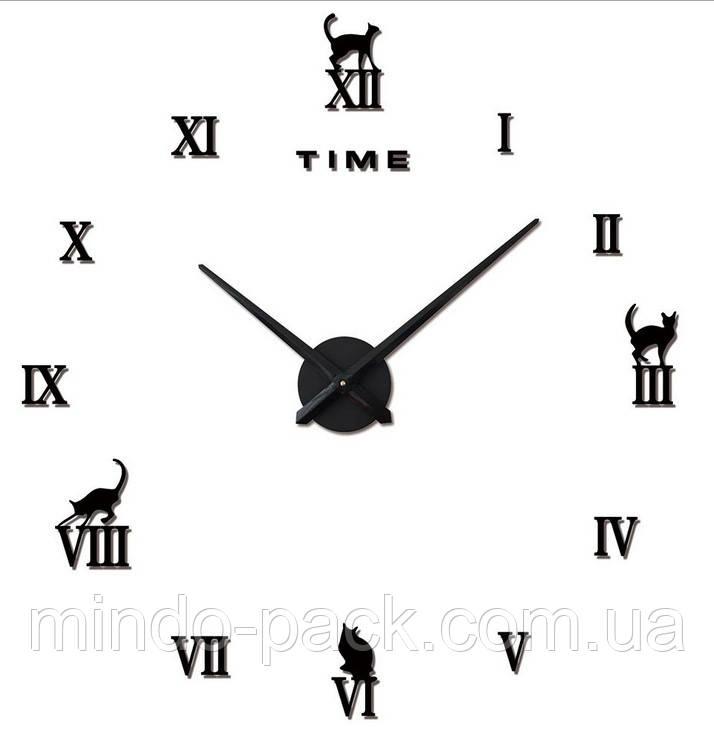 Декоративные 3D часы Black cat (D=1м)