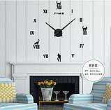 Декоративные 3D часы Black cat (D=1м), фото 2