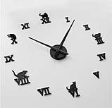 Декоративные 3D часы Black cat (D=1м), фото 3