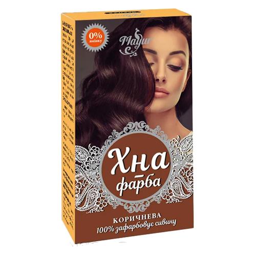 Краска для волос Mayur Коричневая на основе хны 25 г