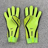 Вратарские перчатки Nike Mercurial Touch Elite салатово-желтый, фото 2