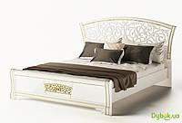 Модульная спальня Полина Новая NEW Кровать 2-сп (1.6) (б/матраса и каркаса)