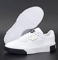 Женские демисезонные кроссовки Puma Cali White Black 36-40рр. Живое фото. Реплика ААА+