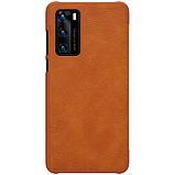 Nillkin Huawei P40 Qin leather case Brown Чехол Книжка, фото 2