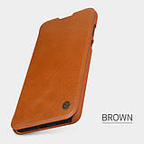 Nillkin Huawei P40 Qin leather case Brown Чехол Книжка, фото 5