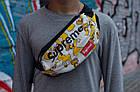 Сумка на пояс Бананка Барыжка Supreme Суприм Simpson Bart Симпсон Барт Белая, фото 4