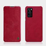 Nillkin Huawei P40 Qin leather case Red Чехол Книжка, фото 4