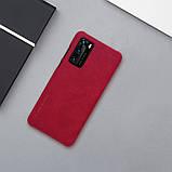 Nillkin Huawei P40 Qin leather case Red Чехол Книжка, фото 6