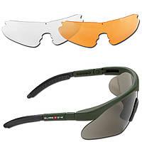 Тактические стрелковые очки SWISS EYE® RAPTOR 3 линзы цвет оправы олива, фото 1