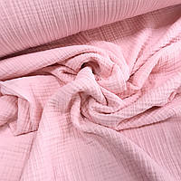 Ткань муслин жатый четырехслойный, розовый (шир. 1,80м)