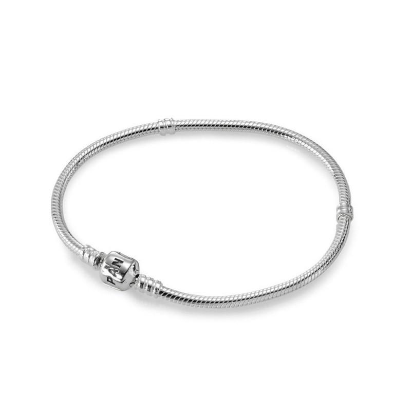 Серебряный браслет в стиле Pandora c фирменным замком p-lock