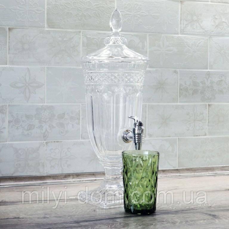 Лимонадница Royal на подставке, 1,8 л, пластиковый кран (лимонадник, диспенсер)