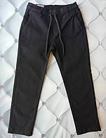 Котоновые штаны мальчику, черные, Турция, р. 6-7-8-9 лет