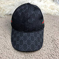 Кепка, бейсболка Baseball Hat Gucci Web GG Supreme Canvas Black