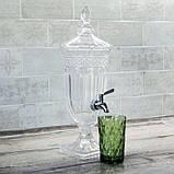 Лимонадница Royal на подставке, 1,8 л, металлический кран (лимонадник, диспенсер), фото 2