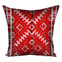 Подушка с принтом вышивкой