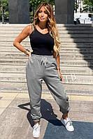 Спортивные брюки однотонные женские СЕРЫЕ (ПОШТУЧНО), фото 1