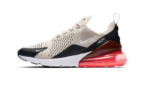 Чоловічі кросівки Nike Air 270 Black /Light-bone /hot punch, фото 2