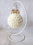 Декоративный шар из роз для интерьера или свадьбы айвори Ivory шебби шик, фото 4