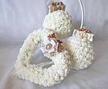 Декоративный шар из роз для интерьера или свадьбы айвори Ivory шебби шик, фото 6