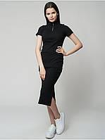 Платье женское миди черное