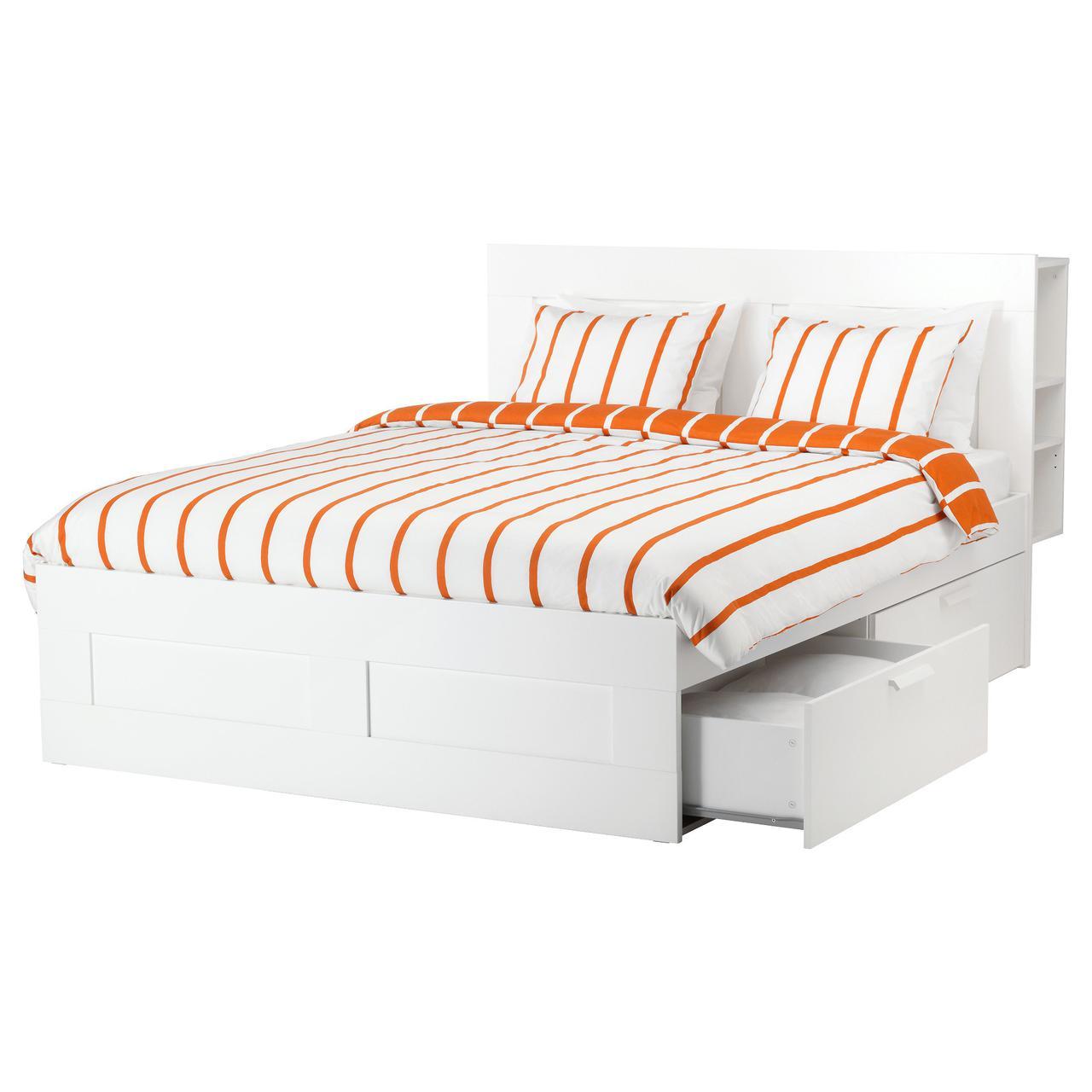 IKEA BRIMNES (590.991.55) Кровать с емкостью хранения