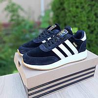 Повседневные мужские кроссовки Adidas INIKI замшевые кросовки в стиле адидас иники черные с белым